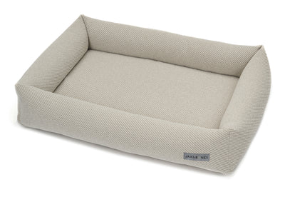 Bailey Bisque Textured Woven Memory Foam Cuddler Bed