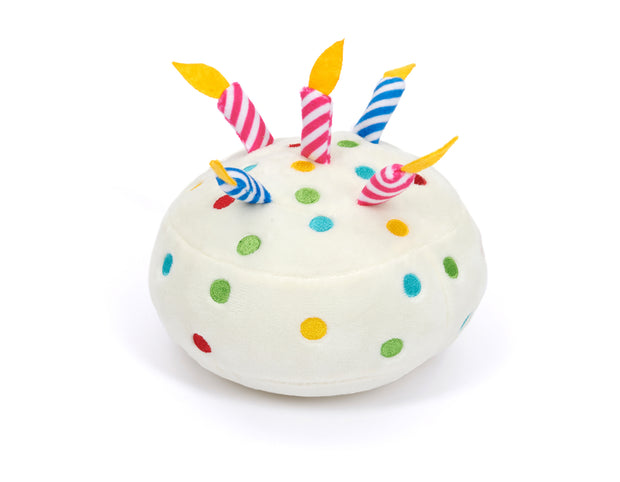 Birthday Cake Dog Squeak Toy