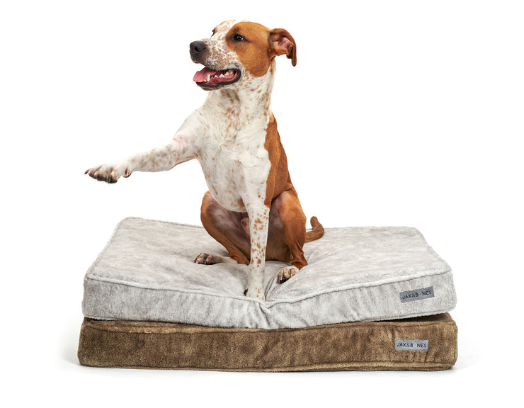 Bruno Taupe Memory Foam Pillow Bed