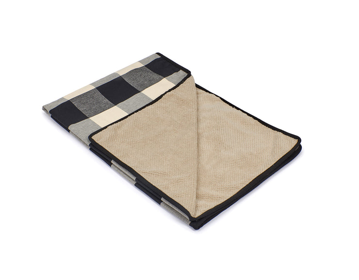 Buffalo Check Black Blanket