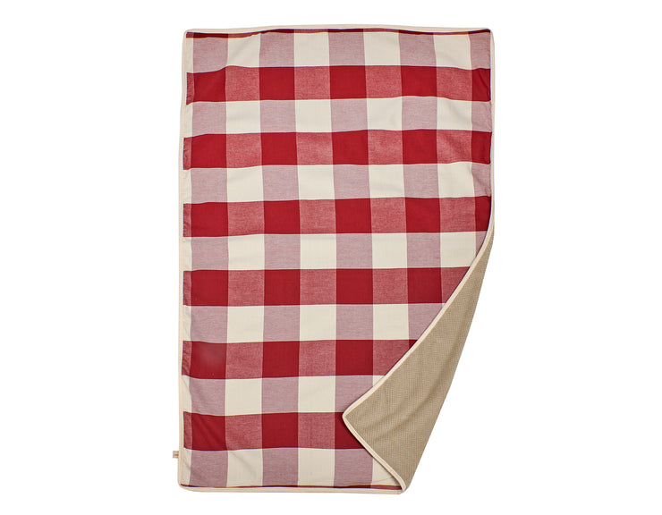 Buffalo Check Crimson Blanket