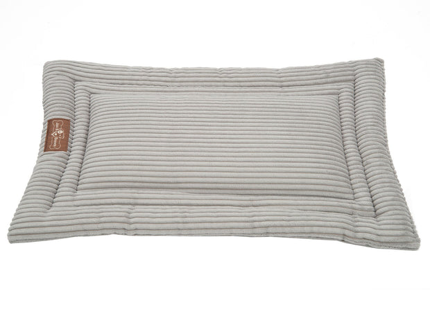 Dove Grey Corduroy Cozy Mat