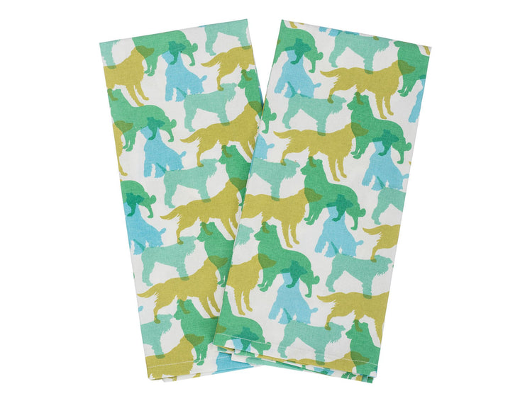 Shades of Green Kitchen Towel Set