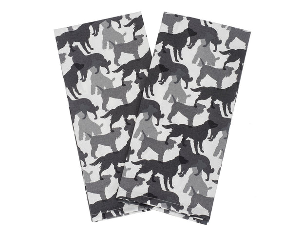 Shades of Gray Kitchen Towel Set