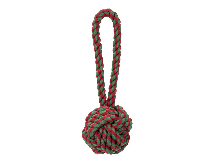 "Holiday Knot 6"" Rope Dog Toy"