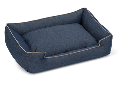 Levi Ink Canvas Lounge Bed
