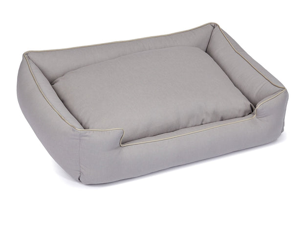 Levi Grey Canvas Lounge Bed