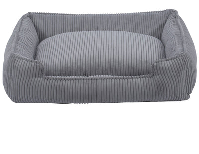 Dove Grey Corduroy Lounge Bed