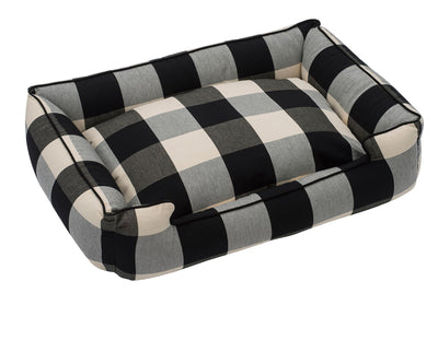 Buffalo Check Black Lounge Bed