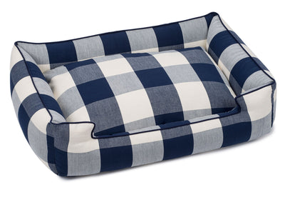 Buffalo Check Navy Lounge Bed