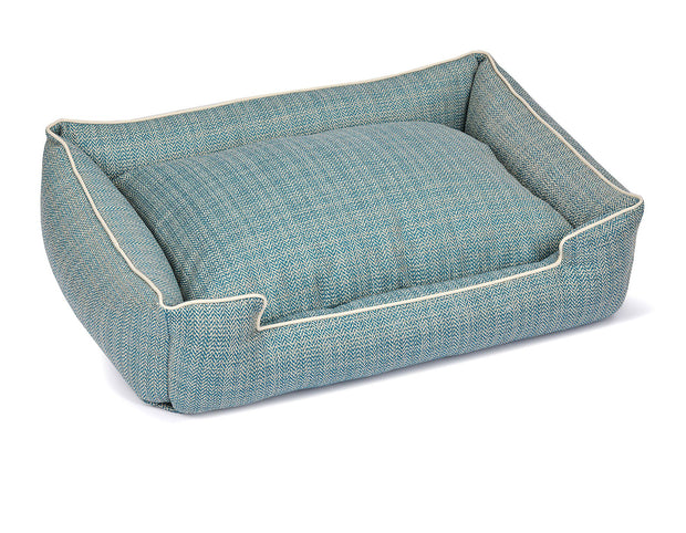 Rail Teal Textured Woven Lounge Bed