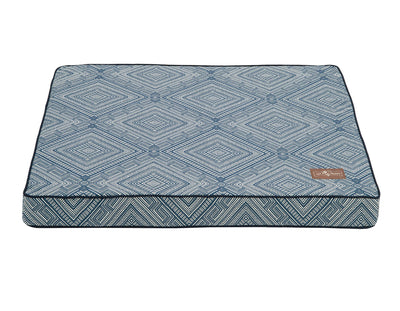 Gatsby Blue Memory Foam Pillow Bed