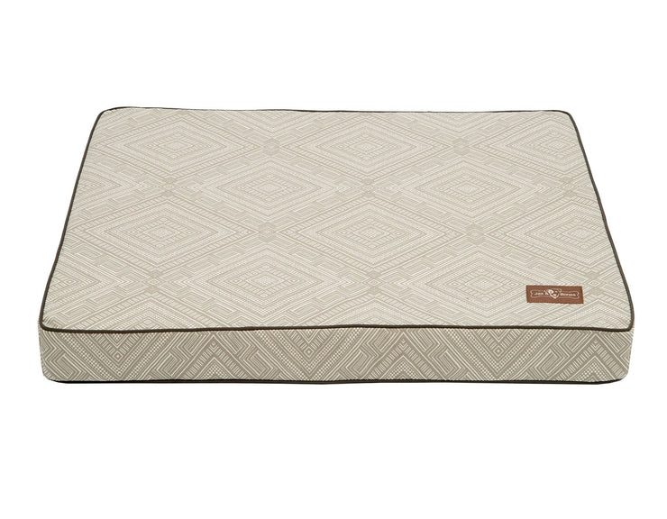 Gatsby Grey Memory Foam Pillow Bed