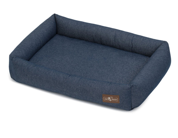 Levi Ink Canvas Cuddler Memory Foam Bed