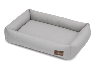 Levi Grey Canvas Cuddler Memory Foam Bed