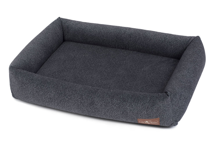 Herringbone Twilight Memory Foam Cuddler Bed