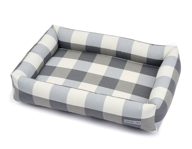 Checker Smoke Memory Foam Cuddler Bed