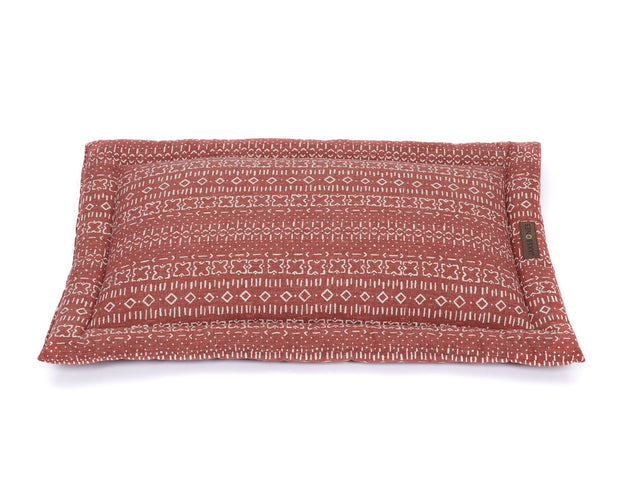 Mudcloth Rust Everyday Cotton Cozy Mat Bed