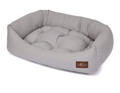 Levi Grey Canvas Napper Bed