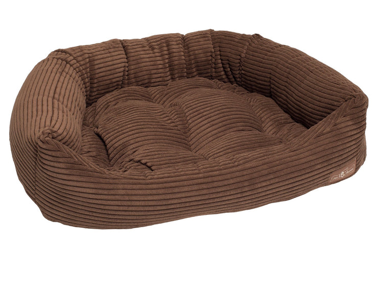 Chocolate Corduroy Napper Bed
