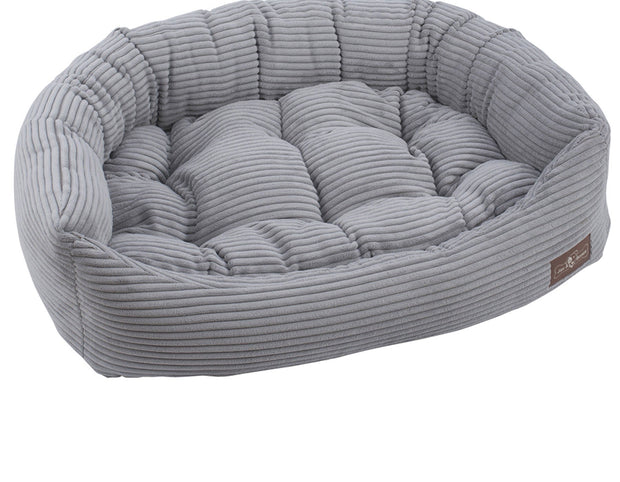 Dove Grey Corduroy Napper Bed