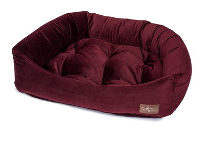 Vintage Maroon Napper Bed