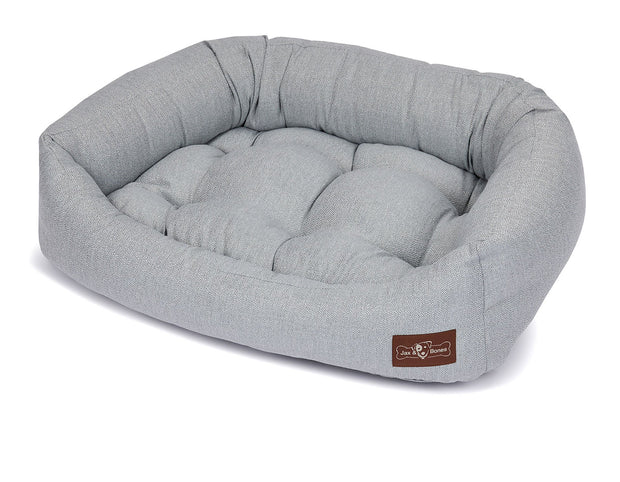Orville Mist Textured Linen Napper Bed