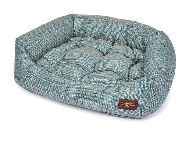 Rail Teal Textured Woven Napper Bed