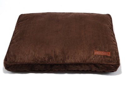 Chocolate Corduroy Rectangular Pillow Bed