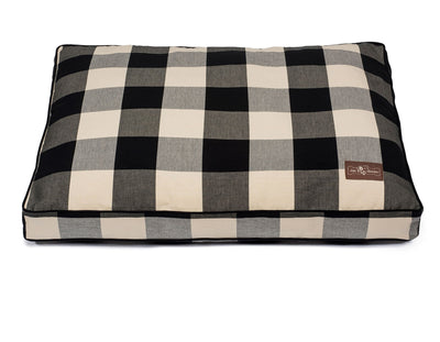 Buffalo Check Black Rectangular Pillow Bed
