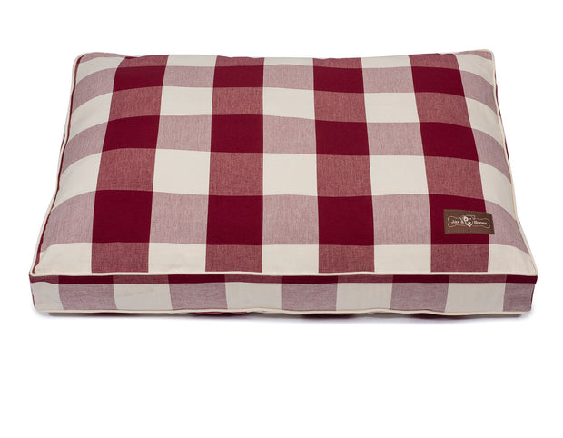 Buffalo Check Crimson Pillow Bed