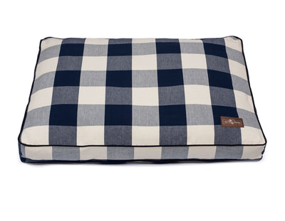 Buffalo Check Navy Rectangular Pillow Bed