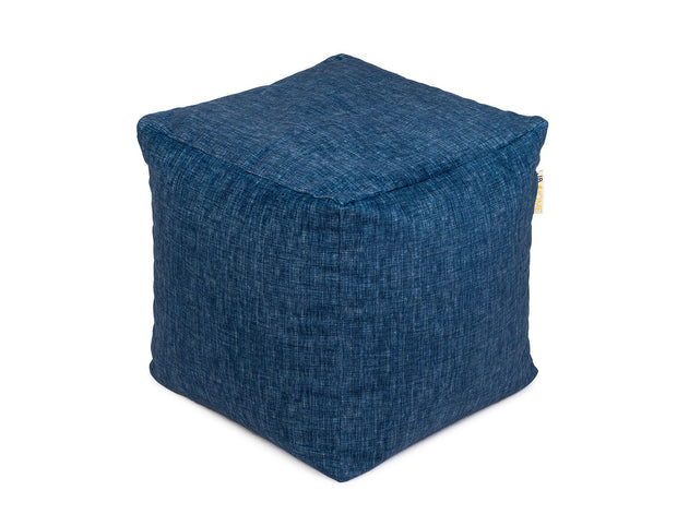 Denim Printed Pouf