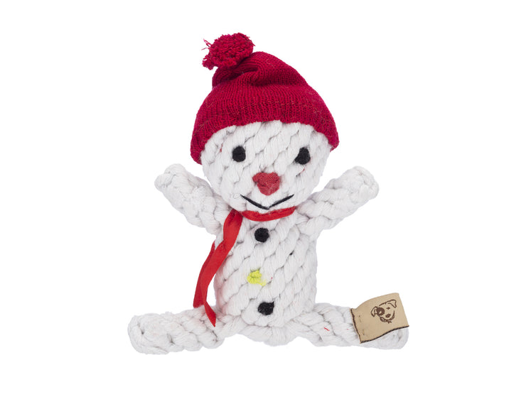 "Scott the Snowman 6"" Rope Dog Toy"