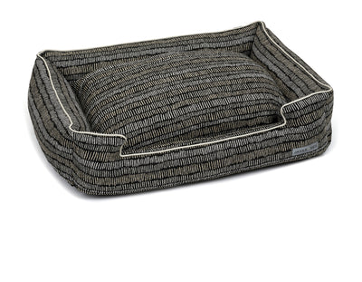 Scribble Black Textured Woven Lounge Bed