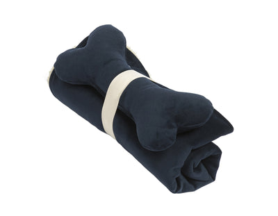 SlumberJax Spa Ink Throw and Bone Toy Set