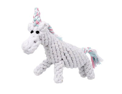 "Unicorn 8"" Rope Dog Toy"