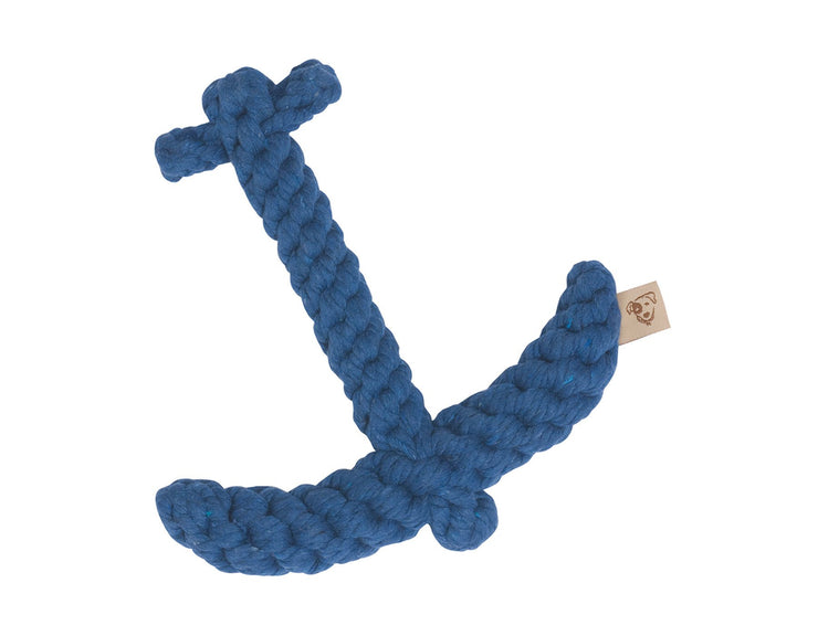 "Blue Anchor 7"" Rope Dog Toy"