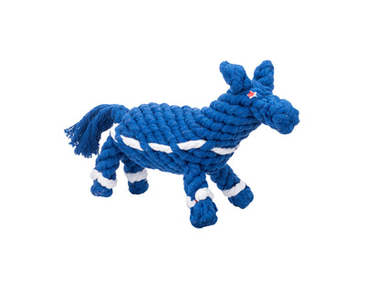"Democratic Donkey 10"" Rope Dog Toy"