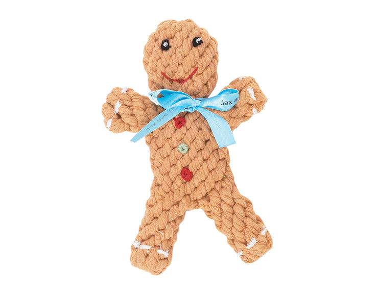"Gingerbread 6"" Rope Dog Toy"