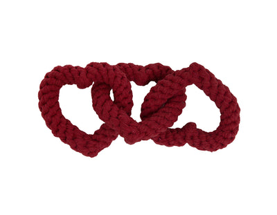 "Chain of Hearts 10"" Rope Dog Toy"