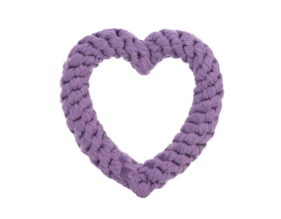 "Purple Heart 7"" Rope Dog Toy"
