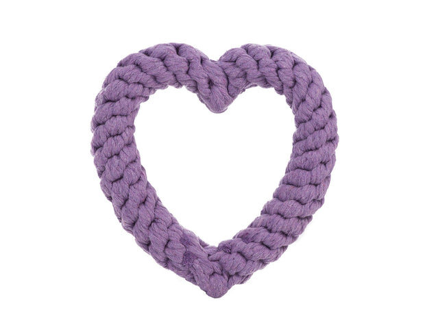 Purple Heart Rope Dog Toy