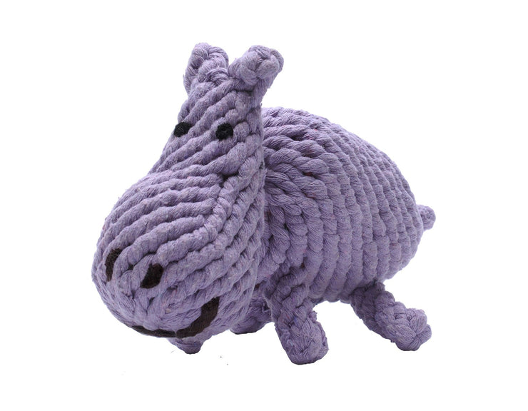 Hank the Hippo Rope Dog Toy