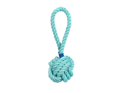 "Aqua Celtic Knot 3"" Rope Dog Toy - Small"