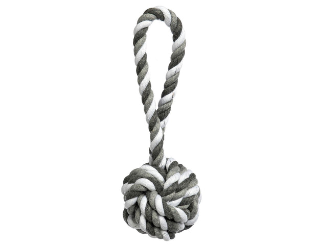 Grey Tri-Color Knot Rope Dog Toy