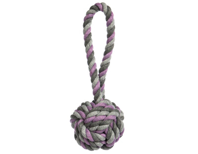 Mauve Tri-Color Knot Rope Dog Toy