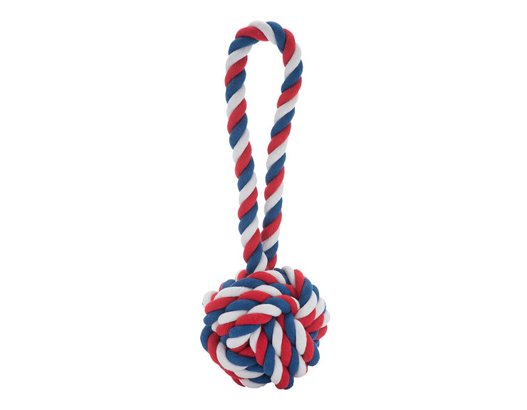 Red, White and Blue Knot Rope Dog Toy