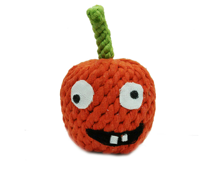 "Gourdy the Pumpkin 4"" Rope Dog Toy"