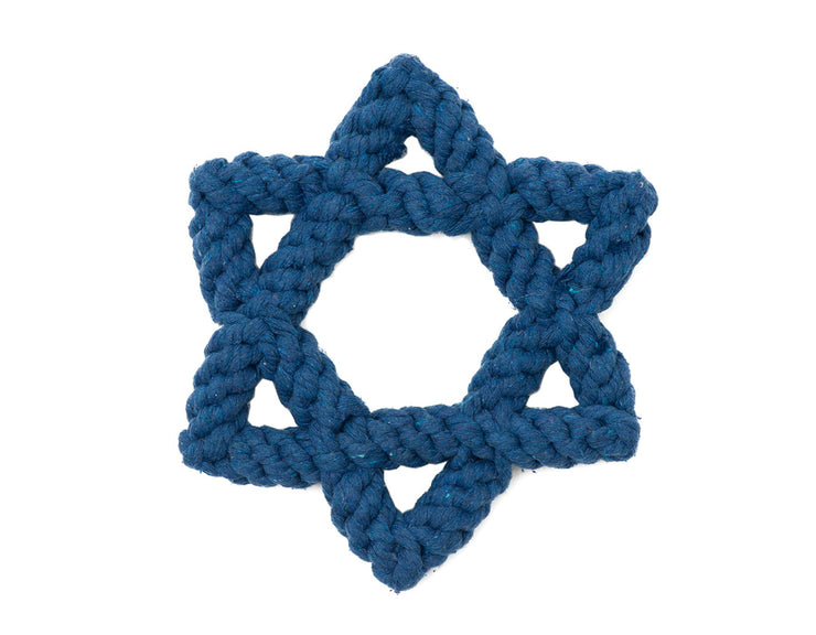 "Star of David 7"" Rope Dog Toy"